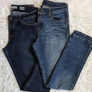 Levi's Modern Skinny Dark Wash Mid Rise Size 8 M